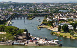 German Corner. A German Corner - a place where the Mosel meets the Rhein Royalty Free Stock Photo