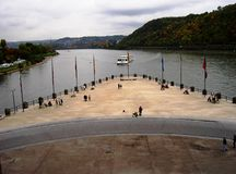 The German Corner in Koblenz. Koblenz, Germany in 2008 Stock Photography