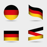 German country flag. Icon vector illustration graphic design Royalty Free Stock Photos