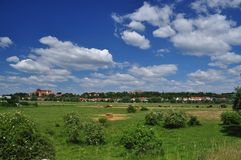 German country landscape. Havelberg Saxony Anhalt. Stock Images
