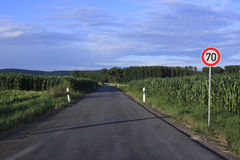 German country road Royalty Free Stock Photo