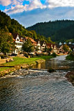 German country side. Germany's country side a river crossing a small town Stock Photo