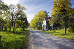 German countryside with house. Near eglofstein Royalty Free Stock Photos