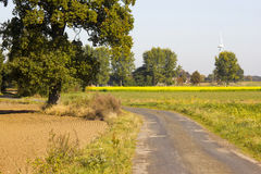 German countryside landscape, Lower Rhine Region Royalty Free Stock Photo