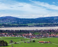 German countryside and village Royalty Free Stock Photo