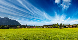German countryside and village panorama Stock Images