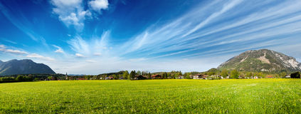 German countryside and village panorama. Germany Stock Photography