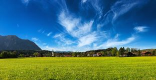 German countryside and village panorama. Germany Stock Image