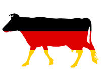 German cow. Detailed and colorful illustration of german cow Stock Photo