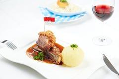 German crackling pork Stock Images