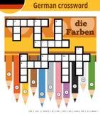 German crossword, education game for children about colors. Vector german crossword, education game for children about colors Stock Photo
