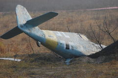 German crushed airplane Stock Photos