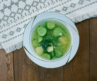German cucumber soup Stock Image