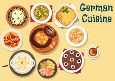 German cuisine festive christmas dinner icon Stock Photos