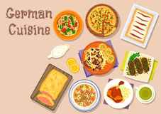 German cuisine lunch icon for menu design Royalty Free Stock Photography
