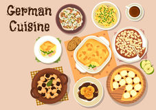 German cuisine traditional dinner icon Royalty Free Stock Photography