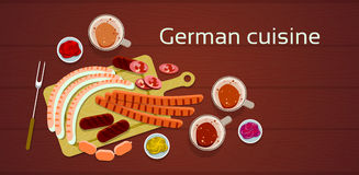 German Cuisine Traditional Sausages Stock Photo