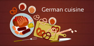 German Cuisine Traditional Sausages Royalty Free Stock Images
