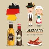 German culture design Stock Image
