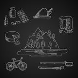 German culture and history icons Royalty Free Stock Image