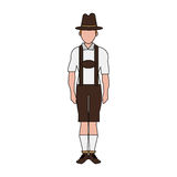 German culture icon image. Man in traditional bavarian costume german culture icon image vector illustration design Royalty Free Stock Image