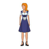 German culture icon image. Woman in typical bavarian costume german culture icon image vector illustration design Stock Photos