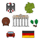 German culture and travel icons Stock Images