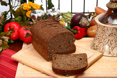 German Dark Wheat Bread Stock Photo