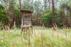 German deerstand in a forest Stock Images