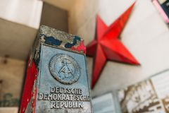 German Democratic Republic sign and red star Royalty Free Stock Image