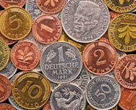 German Deutsche Mark currency Stock Photography