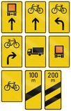 German direction sign for transport of dangerous goods Stock Photography