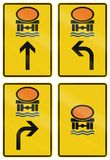 German direction sign for transport of goods dangerous for water reserve Stock Photo