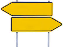 German direction signs with clipping path stock images