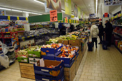 GERMAN DISCOUNT CHAIN STORE LIDL Stock Photos
