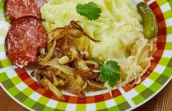 German dish  Himmel und Erde Royalty Free Stock Image