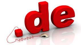 German domain .de Stock Image