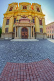 German Dome located on Union Square in Timisoara, Romania. Fish eye view Royalty Free Stock Photos