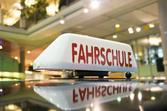 German driving school sign stock photos