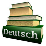 German ducation books - german. Five thick old education books on pile Royalty Free Stock Image