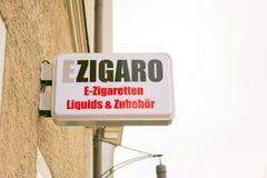 German e-cigarette shop sign Stock Images