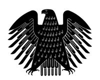 The german eagle (Bundesadler) Stock Images