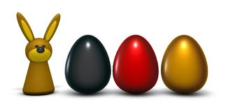 German easter eggs royalty free illustration