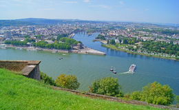 German Eck in Koblenz Royalty Free Stock Photos