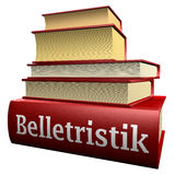 German education books - literature. Five thick old education books on pile Stock Photos