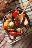 German eintopf soup with meat and vegetables close-up vertical t Royalty Free Stock Images