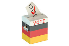 German election ballot box for collecting votes. On white background Royalty Free Stock Photo