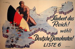 German 1928 Election Poster Stock Image
