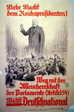 German 1928 Election Poster Royalty Free Stock Image