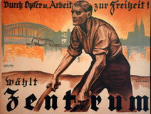 German 1924 Election Poster Stock Image